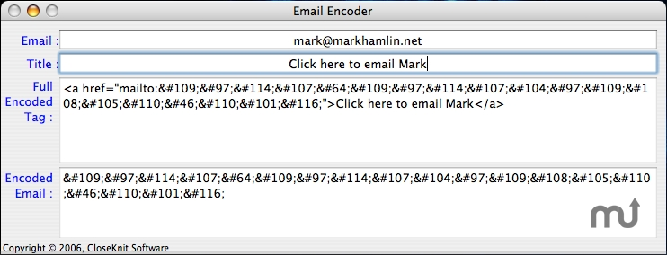 Screenshot 1 for Email Encoder