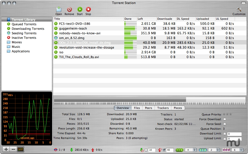 Screenshot 1 for Torrent Station