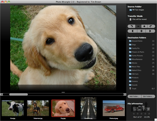 Screenshot 1 for Photo Wrangler