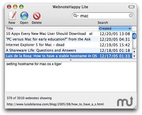 Screenshot 1 for Webnote Lite