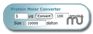 Screenshot 1 for Protein Molar Converter Widget