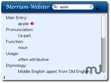 Screenshot 1 for Merriam-Webster Dictionary Widget