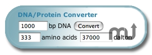 Screenshot 1 for DNA/Protein Converter Widget