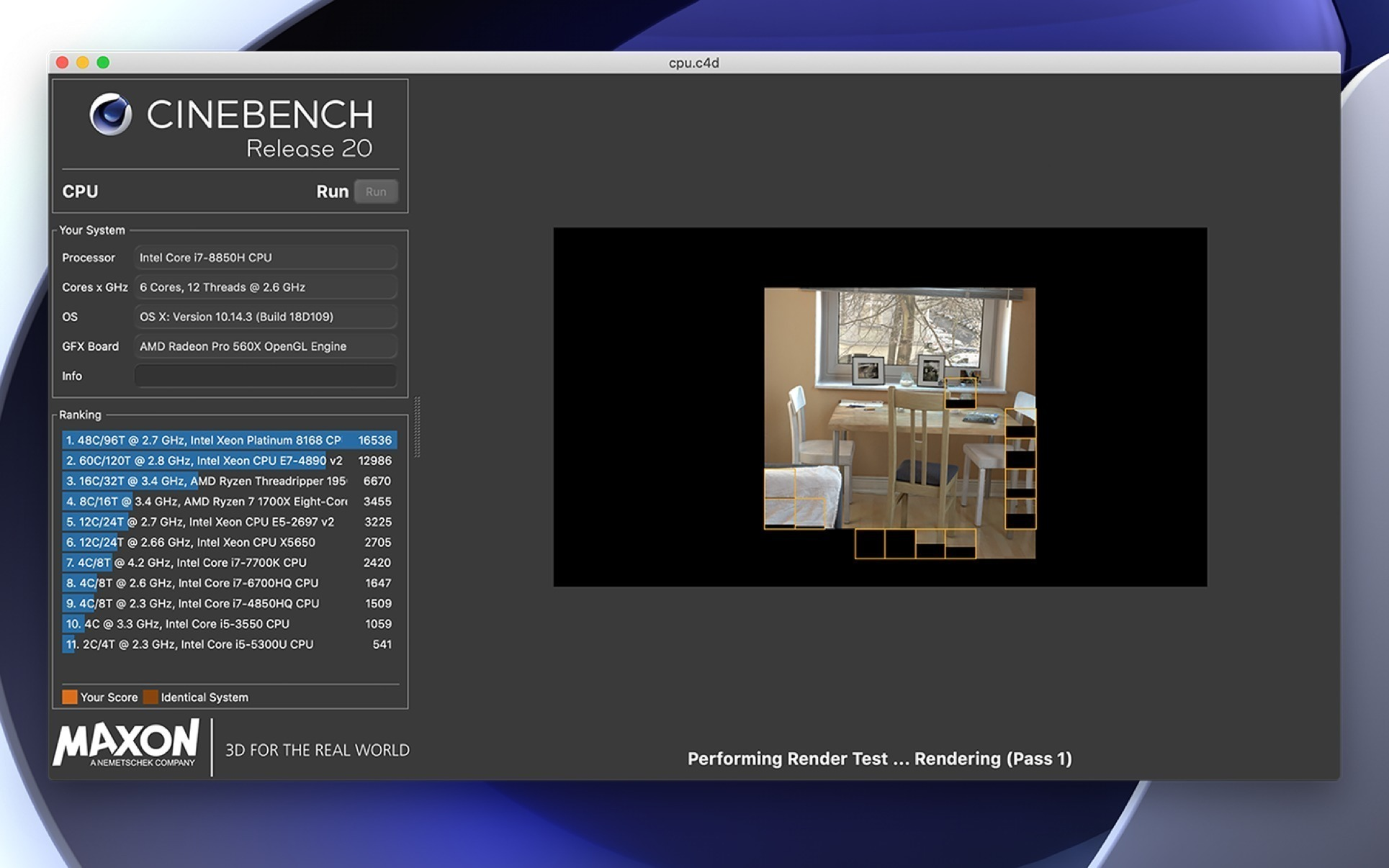 Cinebench 20 060 free download for Mac | MacUpdate