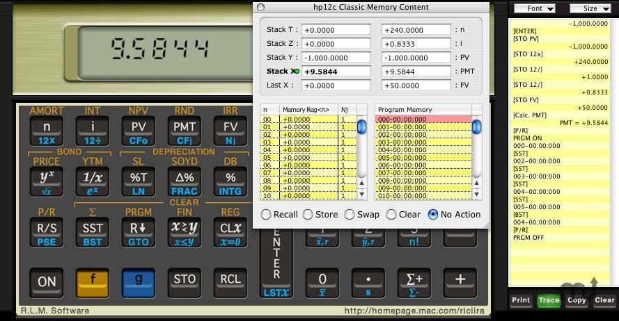 Screenshot 1 for hp12c Classic Business Calculator