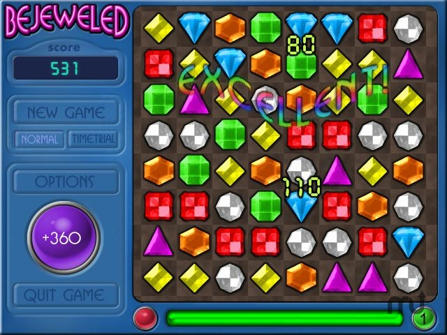 Screenshot 1 for Bejeweled Deluxe