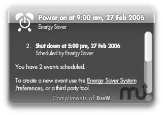 Screenshot 1 for Energy Schedule