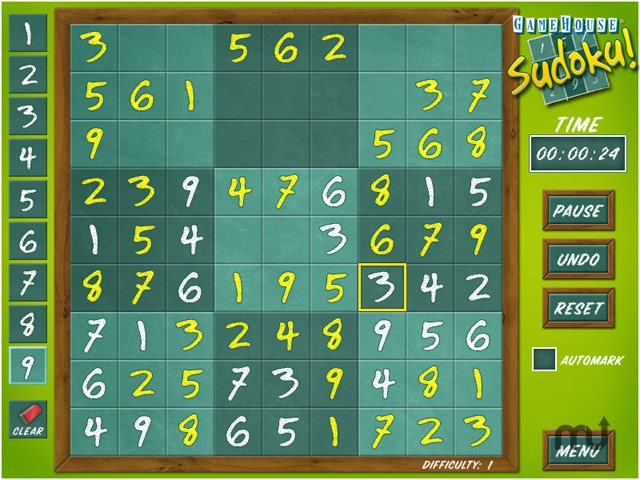 Screenshot 1 for GameHouse Sudoku!