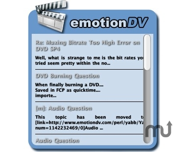 Screenshot 1 for emotionDV