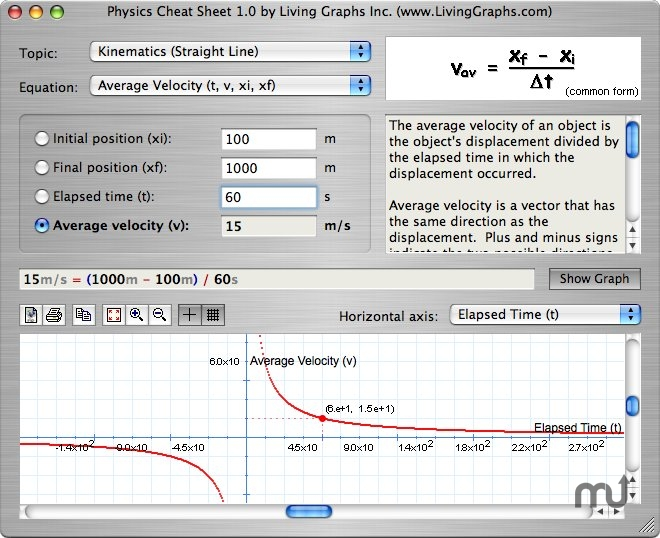 Screenshot 1 for Physics Cheat Sheet