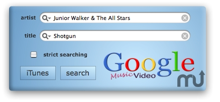 Screenshot 1 for Google Music Video