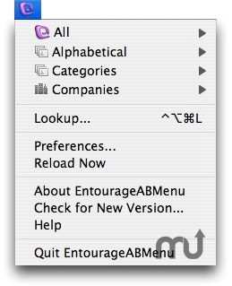 Screenshot 1 for EntourageABMenu