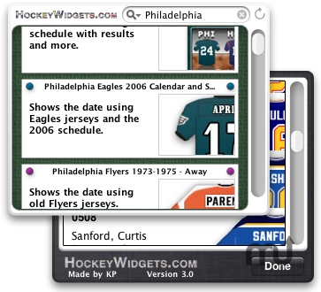 Screenshot 1 for HockeyWidgets