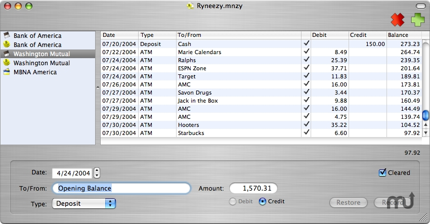 Screenshot 1 for MoneyEasy