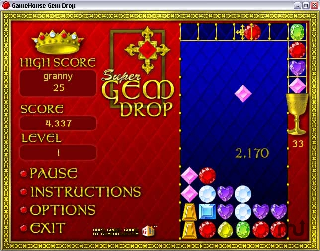 Screenshot 1 for Super Gem Drop