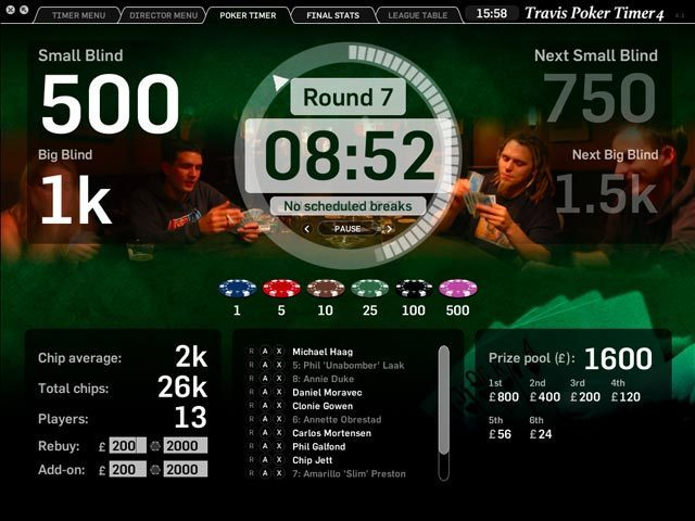 Screenshot 1 for Travis Poker Timer