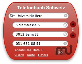 Screenshot 1 for Swiss Phone Book