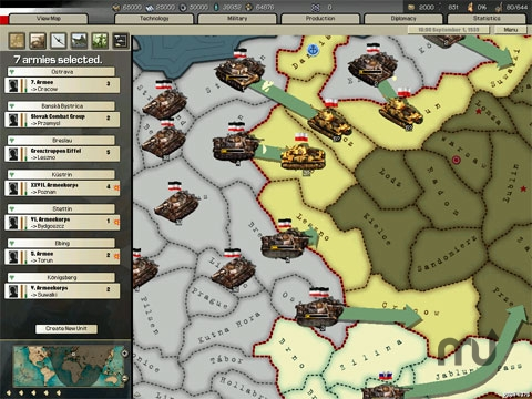 Screenshot 1 for Hearts of Iron 2
