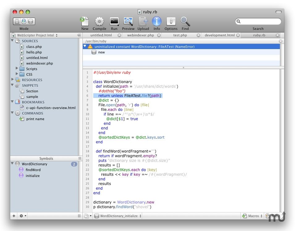 Screenshot 1 for WebScripter