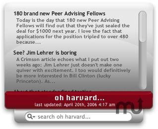 Screenshot 1 for Oh Harvard