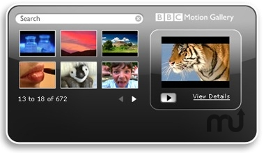 Screenshot 1 for BBC Motion Gallery Search Widget