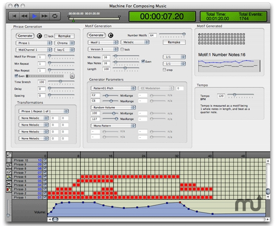 Screenshot 1 for Machine For Composing Music