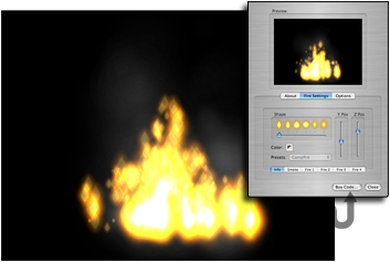 Screenshot 1 for Campfirez Screensaver