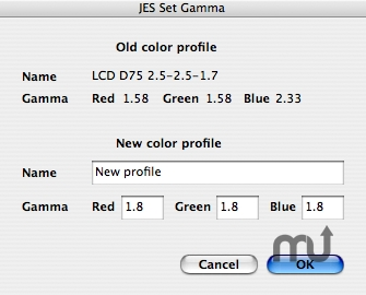 Screenshot 1 for JES Set Monitor Gamma