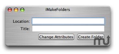Screenshot 1 for iMakeFolders
