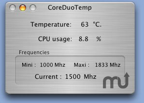 Screenshot 1 for CoreDuoTemp