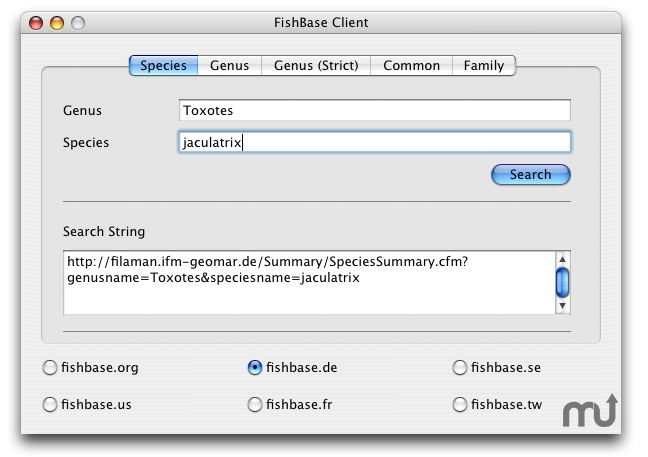 Screenshot 1 for FishBase Client