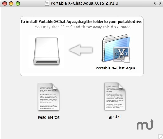 Screenshot 1 for Portable X-Chat Aqua