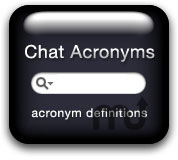 Screenshot 1 for Chat Acronyms Widget