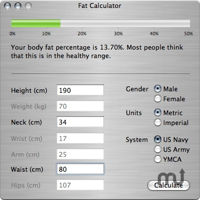 Screenshot 1 for Fat Calculator