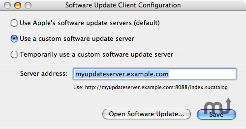Screenshot 1 for Software Update Client Config