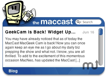 Screenshot 1 for The maccast RSS Widget