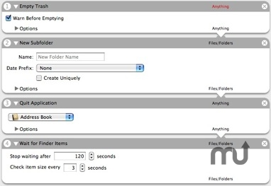 Screenshot 1 for Finder Action Pack