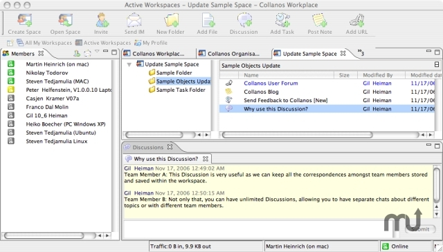 Screenshot 1 for Collanos Workplace
