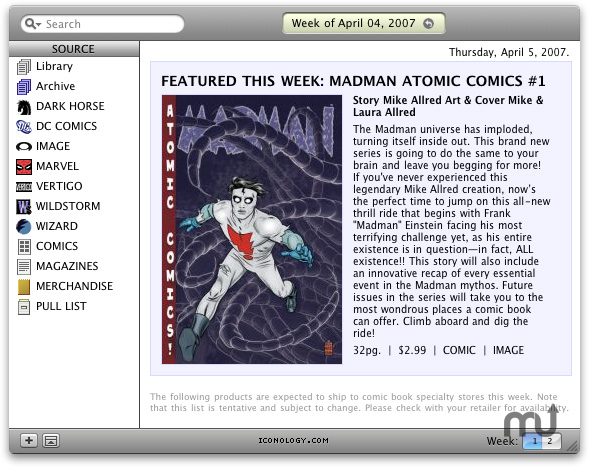 Screenshot 1 for iComicsOnSale