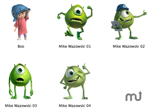 Screenshot 1 for Monsters, Inc. Icons
