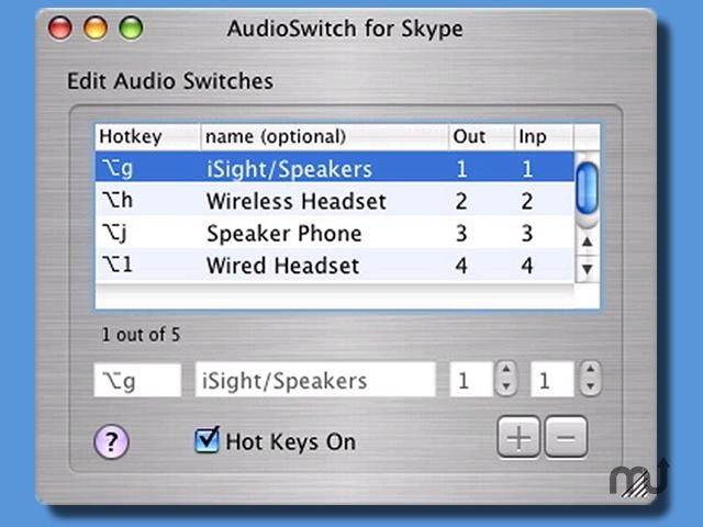 Screenshot 1 for AudioSwitch for Skype