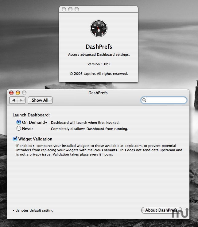 Screenshot 1 for DashPrefs