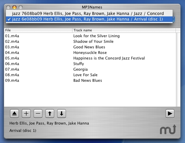 Screenshot 1 for MP3Names