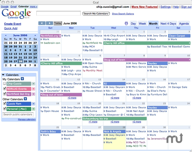 Screenshot 1 for Gcal.app