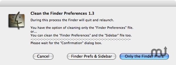 Screenshot 1 for Clean the Finder Preferences