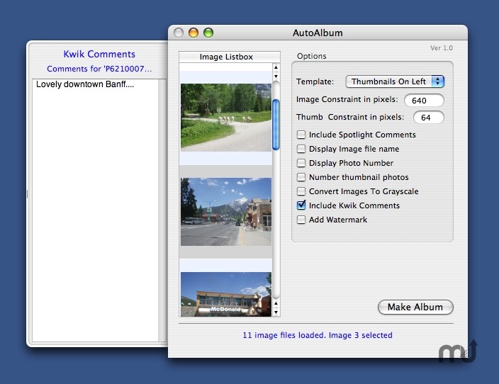 Screenshot 1 for AutoAlbum
