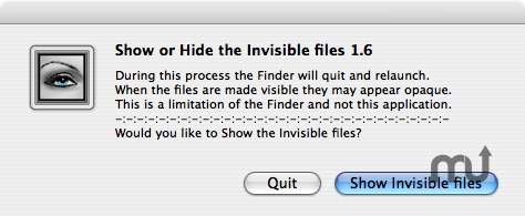 Screenshot 1 for Show Hide Invisible Files