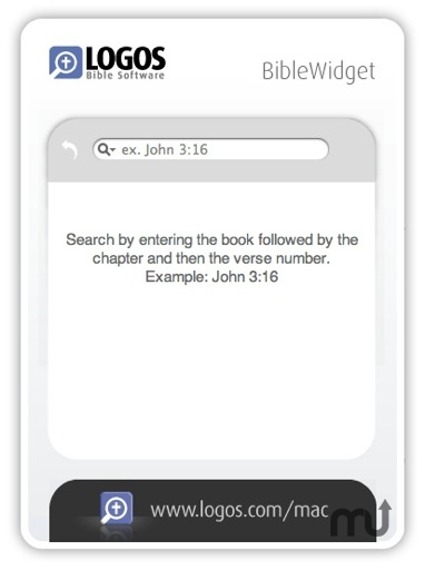 Screenshot 1 for Logos Bible Widget
