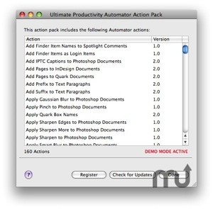 Screenshot 1 for Ultimate Productivity Automator Action Pack