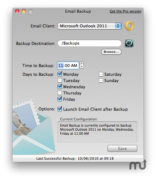 Screenshot 1 for Email Backup